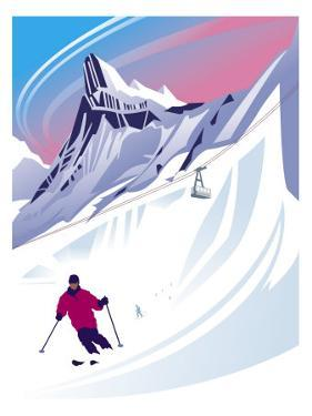 Swiss Alps Ski Scene