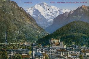 Jungfraujoch - Interlaken and Jungfrau in Switzerland. Postcard Sent in 1913 by Swiss photographer