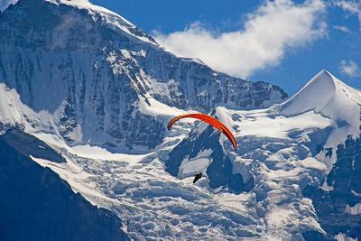 Paragliding in Swiss Alps Jungfrau Region, Switzerland