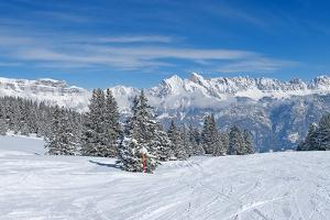 Slope on the Skiing Resort Flumserberg. Switzerland by swisshippo