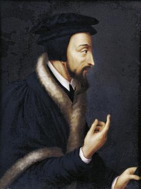 Switzerland, Geneva, Portrait of French Theologian and Religious Reformer, John Calvin