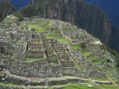 Ancient Incan Ruins of Machu Picchu, Peru