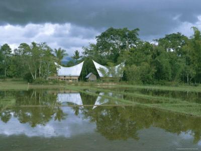 Batak Houses, Lake Toba, North Sumatra, Sumatra, Indonesia, Southeast Asia, Asia