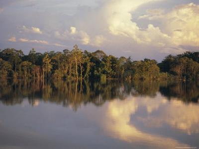 Clouds Reflected in the Sepik River, Papua New Guinea