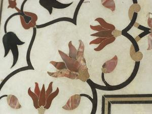 Detail of Inlay Work, Taj Mahal, Unesco World Heritage Site, Agra, India by Sybil Sassoon