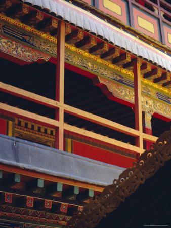 Detail, Potala Palace, Unesco World Heritage Site, Lhasa, Tibet, China, Asia