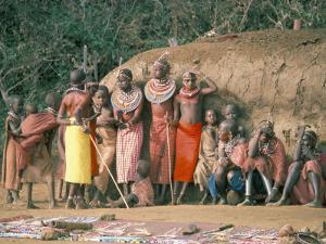 Masai Women and Children, Kenya, East Africa, Africa by Sybil Sassoon