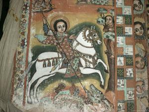 St. George and Dragon, Uran Kidane Meherate Church, Zege Peninsula, Lake Tana, Ethiopia, Africa by Sybil Sassoon
