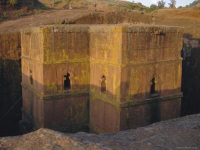 St. Giorgis (St. George's) Rock Cut Church, Lalibela, Ethiopia, Africa