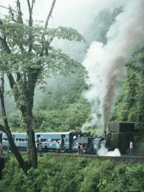 Steam Train on the Way to Darjeeling, West Bengal State, India, Asia by Sybil Sassoon