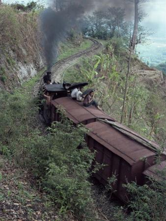 Steam Train on the Way to Darjeeling, West Bengal State, India, Asia