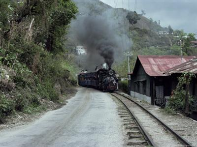 Toy Train En Route for Darjeeling, West Bengal State, India
