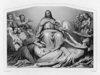 Jesus of Nazareth Depicted as Christ the Consolator by Sydenham Teast Edwards