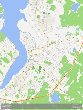 Sydney, Canada Map