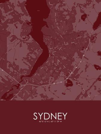 Sydney, Canada Red Map