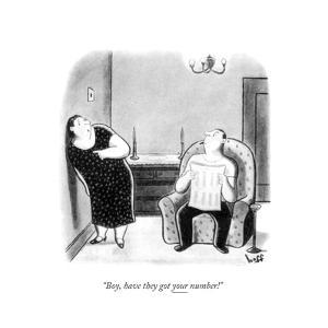 """Boy, have they got your number!"" - New Yorker Cartoon by Sydney Hoff"