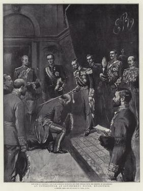 An Investiture at Government House, Melbourne by Sydney Prior Hall