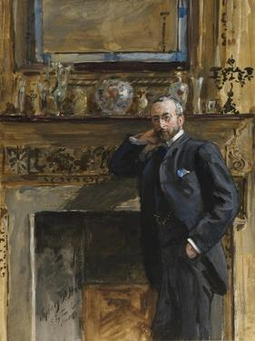 Gentleman in an Interior at 5 Fig Tree Court, 1890 by Sydney Prior Hall