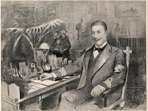 Prince George of Greece and Denmark , high commissioner of Crete , at home in Athens, 1898 by Sydney Prior Hall