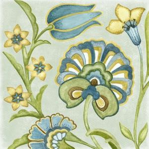 Decorative Golden Bloom II by Sydney Wright