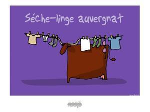 I Lov'ergne - Sèche-linge auvergnat by Sylvain Bichicchi