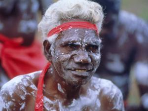 Aborigine Man, Australia by Sylvain Grandadam