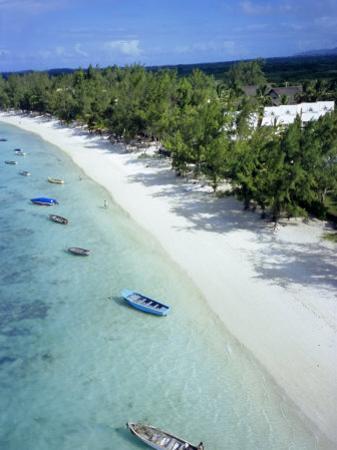 Aerial View of Beach, Reunion Island, Department of France, Indian Ocean, Africa by Sylvain Grandadam