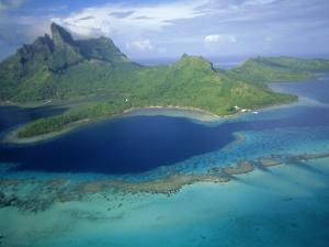 Aerial View, Tahiti, Bora Bora (Borabora), Society Islands, French Polynesia, South Pacific Islands by Sylvain Grandadam