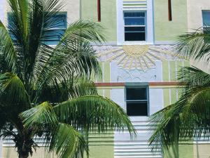 Art Deco Building Detail, South Beach, Miami Beach, Florida, USA by Sylvain Grandadam