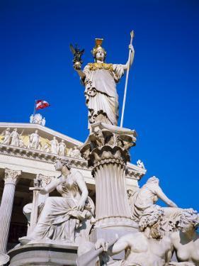 Athena Statue in Front of the Parliament Building, Vienna, Austria by Sylvain Grandadam