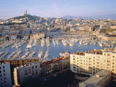 Cityscape of the Port of Marseille, France