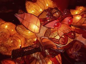 Close-up of Illuminated Lantern, Taipei, Taiwan, Asia by Sylvain Grandadam