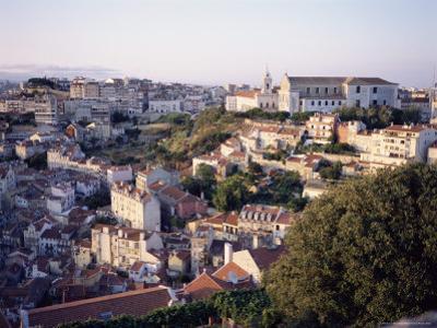 Evening, Largo De Graca Area of the City from Castelo De Sao Jorge, Lisbon, Portugal, Europe