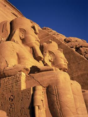 Large Carved Seated Statues of the Pharaoh, Temple of Rameses II, Nubia, Egypt by Sylvain Grandadam