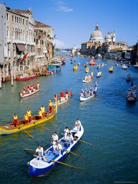 Regatta Storica, Parade on Grand Canal, Venice, Veneto, Italy by Sylvain Grandadam