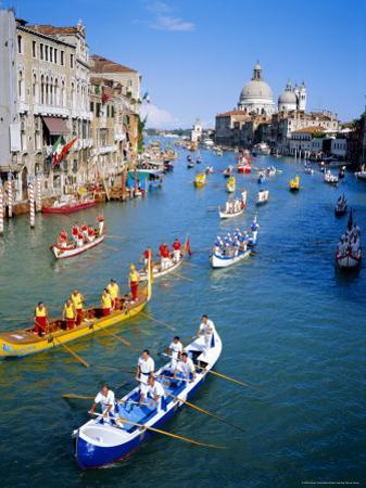 Regatta Storica, Parade on Grand Canal, Venice, Veneto, Italy