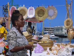 Souvenir Market Stall, Barbados, Caribbean, West Indies by Sylvain Grandadam