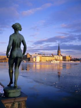 Statue and City Skyline, Stockholm, Sweden, Scandinavia, Europe by Sylvain Grandadam