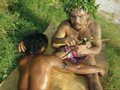 Tavita Manea, Tattooer, Moorea, Society Islands, French Polynesia, South Pacific Islands, Pacific