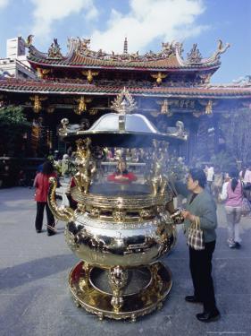 Temple, Taipei, Taiwan, Republic of China, Asia by Sylvain Grandadam