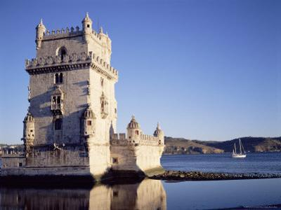 Tower of Belem, Built 1515-1521, and Rio Tejo (River Tagus), Lisbon, Portugal