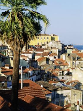 View of Alfama District and the Tagus River, Lisbon, Portugal, Europe by Sylvain Grandadam