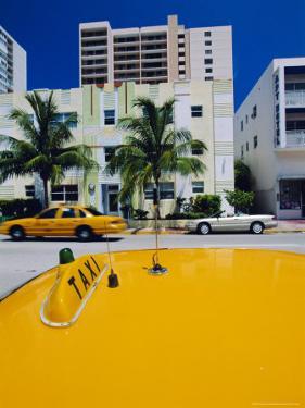 Yellow Taxi, South Beach, Miami Beach, Florida, USA by Sylvain Grandadam