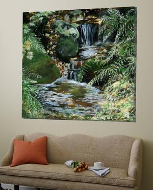 Cascades en sous-bois by Sylvia Audet