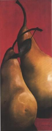 Two Pears on Red II