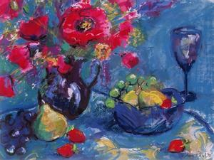 Still Life with Blue Glass, 1999 by Sylvia Paul