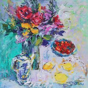 Strawberries with Flowers by Sylvia Paul