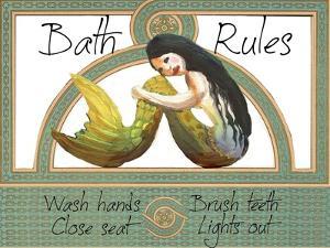 Bath Rules Mermaid by sylvia pimental
