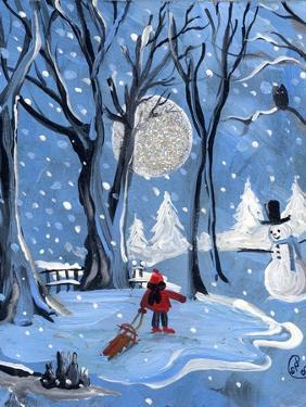 Blue Sledding Christmas by sylvia pimental