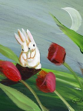 Bunnies & Tulips by sylvia pimental
